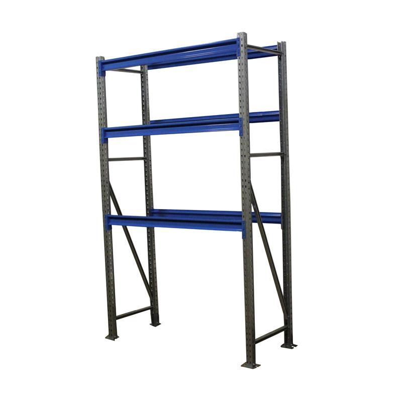 Металлический складской стеллаж РП-50 (Solos) 2100х1500х500 3 яруса Синий без настила