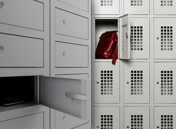 Шкафы для хранения сумок и личных вещей
